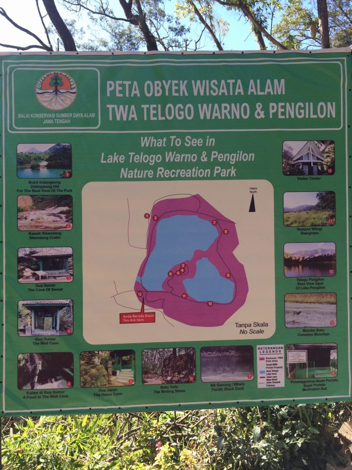 Peta Tempat Wisata Telaga Warna/Telogo Worno