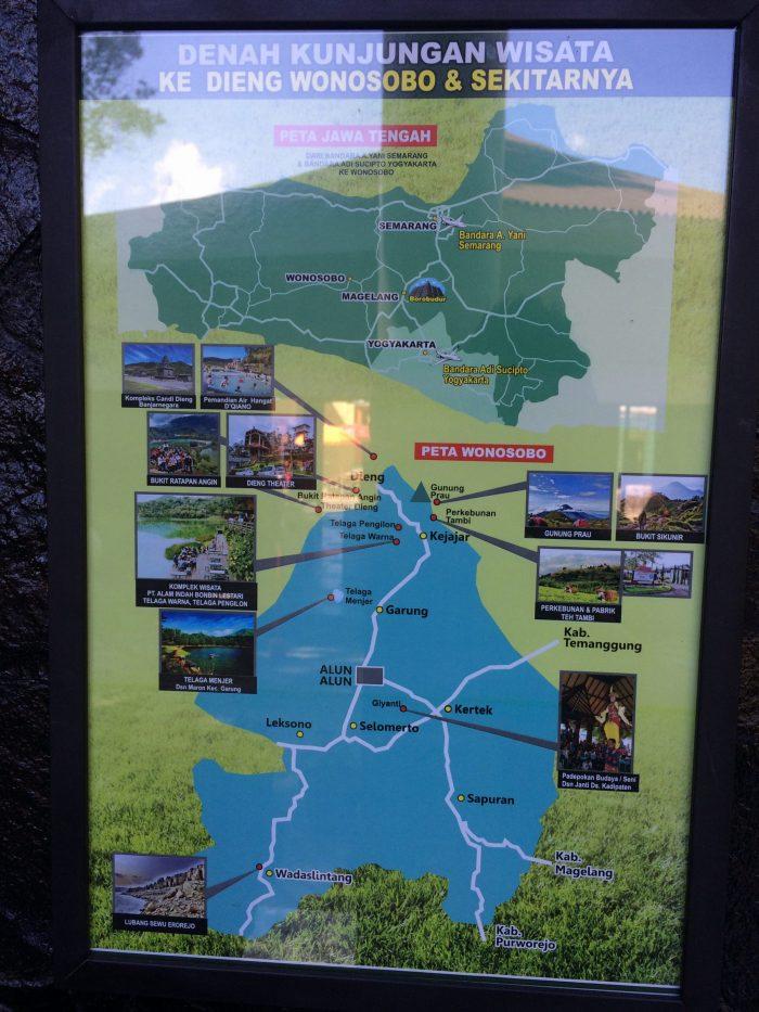 Peta Tempat Kawasan Wisata DIeng